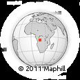 "Outline Map of the Area around 7° 10' 2"" S, 18° 46' 29"" E, rectangular outline"