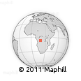 Outline Map of Naginga, rectangular outline