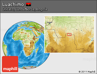 Physical Location Map of Luachimo