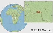 Savanna Style Location Map of Cacanda