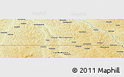 Physical Panoramic Map of Tumba