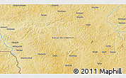 """Physical 3D Map of the area around 7°10'2""""S,22°10'29""""E"""