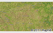 """Satellite 3D Map of the area around 7°10'2""""S,22°10'29""""E"""