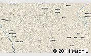 """Shaded Relief 3D Map of the area around 7°10'2""""S,22°10'29""""E"""
