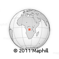 "Outline Map of the Area around 7° 10' 2"" S, 22° 10' 29"" E, rectangular outline"