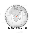 Outline Map of Manono, rectangular outline