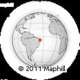 Outline Map of Patos, rectangular outline