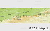Physical Panoramic Map of Patos