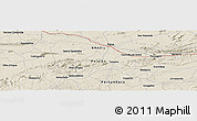 Shaded Relief Panoramic Map of Patos