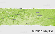 """Physical Panoramic Map of the area around 7°10'2""""S,44°7'30""""W"""