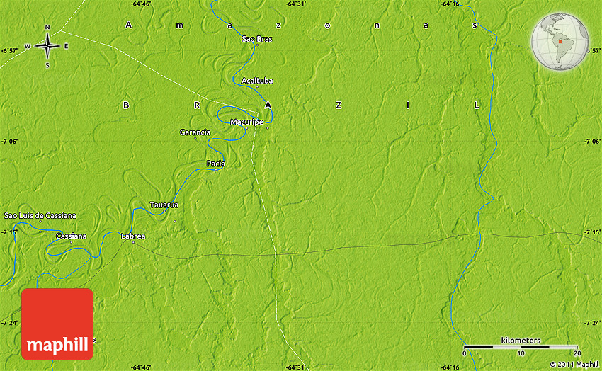 Paci 225 River Is A River Of Amazonas State In North Western