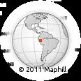 Outline Map of Cuzco, rectangular outline