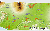"""Physical 3D Map of the area around 7°41'23""""S,110°34'29""""E"""