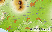 """Physical Map of the area around 7°41'23""""S,110°34'29""""E"""