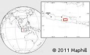 Blank Location Map of Madiun
