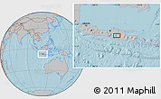 Gray Location Map of Madiun, hill shading