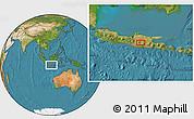 Satellite Location Map of Madiun