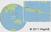Savanna Style Location Map of Madiun