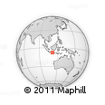 Outline Map of Madiun, rectangular outline