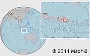 Gray Location Map of Kediri, hill shading