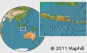 Satellite Location Map of Kediri