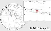 Blank Location Map of Sidoarjo