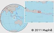 Gray Location Map of Sidoarjo