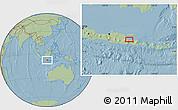 Savanna Style Location Map of Sidoarjo, hill shading