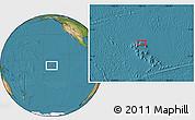 "Satellite Location Map of the area around 7°41'23""S,140°10'30""W"