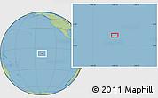 "Savanna Style Location Map of the area around 7°41'23""S,140°10'30""W"