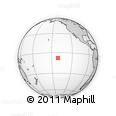 """Outline Map of the Area around 7° 41' 23"""" S, 141° 1' 30"""" W, rectangular outline"""
