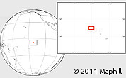"""Blank Location Map of the area around 7°41'23""""S,141°52'30""""W"""