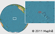 "Satellite Location Map of the area around 7°41'23""S,141°52'30""W"