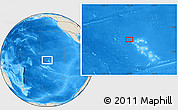 """Shaded Relief Location Map of the area around 7°41'23""""S,141°52'30""""W"""