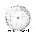 """Outline Map of the Area around 7° 41' 23"""" S, 141° 52' 30"""" W, rectangular outline"""