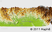 Physical Panoramic Map of Anandea