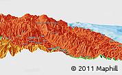 Political Panoramic Map of Arabuka