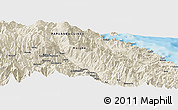 Shaded Relief Panoramic Map of Arabuka