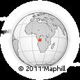 Outline Map of Zashi-Moheto, rectangular outline