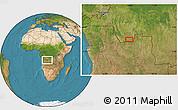 "Satellite Location Map of the area around 7°41'23""S,18°46'29""E"