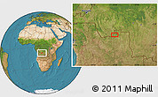 "Satellite Location Map of the area around 7°41'23""S,19°37'30""E"