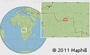 "Savanna Style Location Map of the area around 7°41'23""S,19°37'30""E"