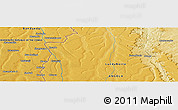 Physical Panoramic Map of Shafudi