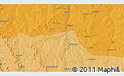 Political 3D Map of Senda