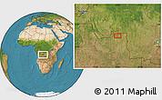 "Satellite Location Map of the area around 7°41'23""S,20°28'30""E"