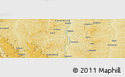 """Physical Panoramic Map of the area around 7°41'23""""S,20°28'30""""E"""