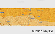 """Political Panoramic Map of the area around 7°41'23""""S,20°28'30""""E"""