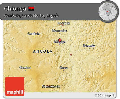Physical 3D Map of Chionga