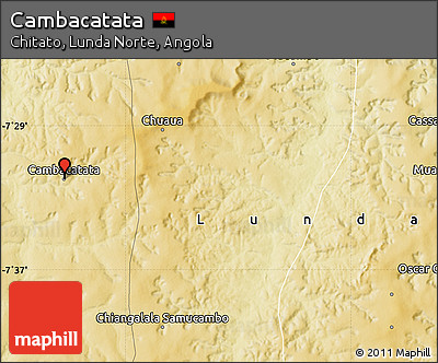 Physical Map of Cambacatata