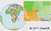 Political Location Map of Caputungo